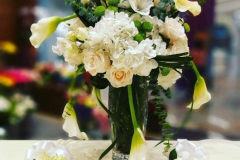 beautiful flowers in vase for table display