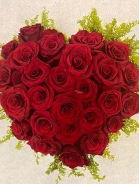Red Roses Heart Shaped