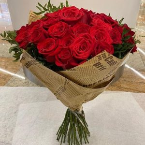 red roses bouquet large fifty one flowers